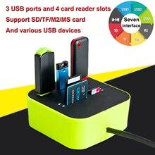 Usb 카드 판독기 확장기 다기능 메모리 otg 마이크로 sd tf usb 2.0 cardreader kaartlezer lector de tarjetas lecteur carte sd