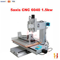 5 Axis Cnc Router 6040 With High Performance Mini Cnc Milling Machine 1 5kw Spindle For