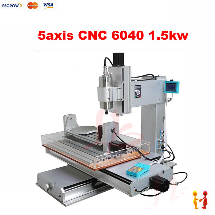 5 axis cnc router 6040 with high performance mini cnc milling machine 1.5kw spindle for Wood metal aluminum Bronze high steady cost effective wood cutting mini cnc machine milling