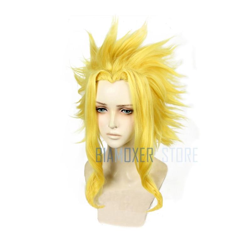 Biamoxer Brand My Hero Academia Toshinori Yagi All Might Cosplay Wigs Heat Resistant Synthetic Hair Perucas Cosplay Wig