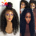 Curly Heat Resistant Synthetic Wig Brazilian Afro Kinky Curly Synthetic Lace Front Wig For Afro African American And Black Women