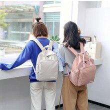 Lady backpack School Travel Bag Double Shoulder Bag Zipper Bag Women Canvas Backpack Chain Ring Teenage Girls Backpack bookbag double tassel canvas backpack