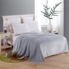 Мягкое одеяло на кровать из полиэстера кораллового флиса в клетку