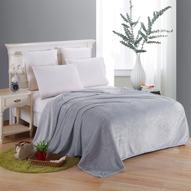 Polyester Coral Fleece Flannel Blankets