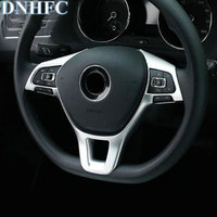 DNHFC ABS Steering Wheel Decoration Trim Cover Car Accessories Car Styling For Volkswagen VW Tiguan MK2