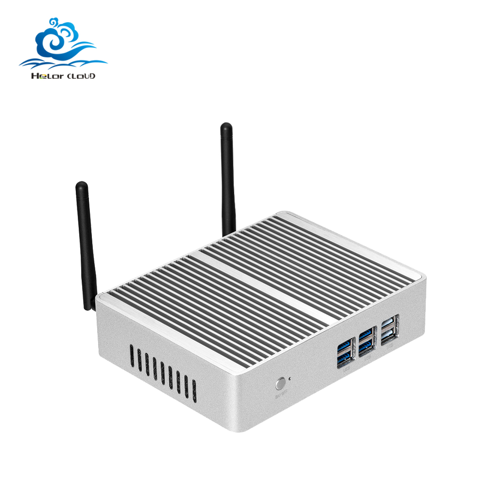 HLY Mini PC Intel Core i5 4210Y Celeron 3855U 4K Mini Computer Fanless Computer Mini Windows 10 Desktop Barebone HDMI Wifi mini pc computer intel celeron n2808 dual core 2 hdmi mini desktop computer fanless wifi windows 7 8 10 customized pc page 5 page page 3