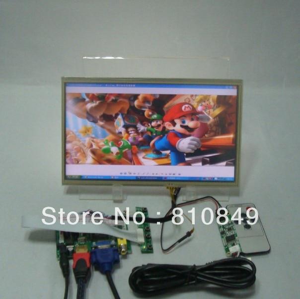HDMI VGA 2AV LCD Controller Board+10.1 LP101WH1 N101BGE 1366x768 LCD With Touch Panel vga 2av audio reversing lcd driver board 10 1inch n101bge 1366 768 lcd panel