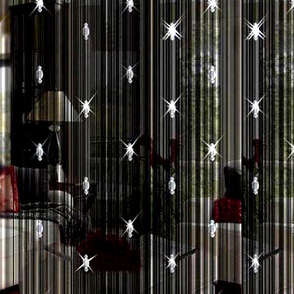 High Quality Romantic Home Decorative String Curtain With 3 Beads Door Window Panel Room Divider For