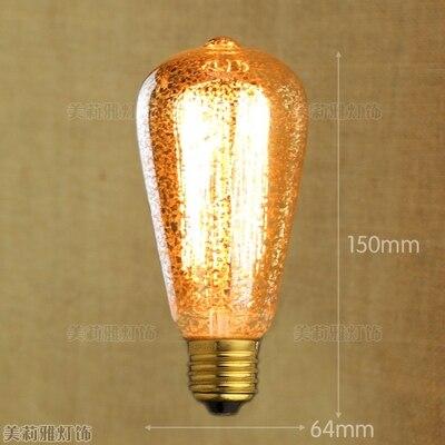 2pcs E27 40W Lampada Edison Bulb Retro Lamp Bombillas Vintage Light Bulb Edison Lamp Ampoules Decoratives St64 St58 A19 T45 G95