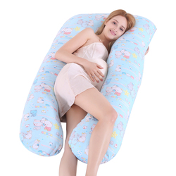 Sleeping Pillow For Pregnant Women Cotton Pillowcase U Maternity Form Pillows Pregnancy Side Sleepers Bedding Only Pillowcase