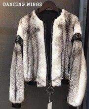 Whole Skin Cross Mink Short Female Baseball Clothing Women's Genuine Mink Fur Short Coat Fashion Slim jacket
