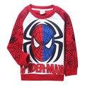 2015 Promoción Apresurado Personaje Regular Polerones Minnie Bob Esponja Ropa de Otoño E Invierno de Los Niños Sudaderas de Spider-man