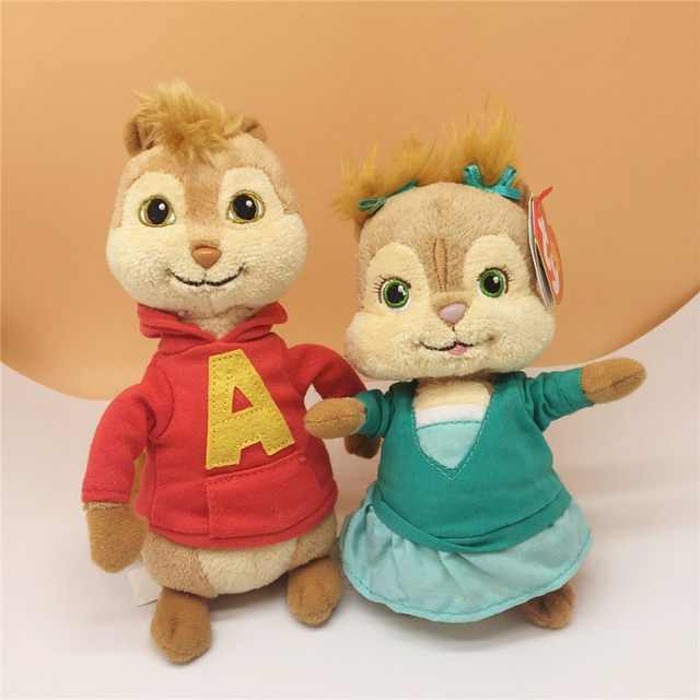 Alvin and the Chipmunks Alvin Plush Toy Stuffed Animals 17cm Kids Toys for Children  Gifts ea84a64ded4a