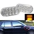 Ámbar Para Guardabarros Luces LED de Marcador Lateral Señal de Vuelta de Lámparas para VW MK4 Golf/Jetta y Passat Lente Transparente