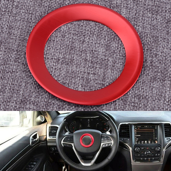 DWCX Car Styling Red Interior Steering Wheel Center Decoration Cover Trim Fit for Jeep Grand Cherokee image