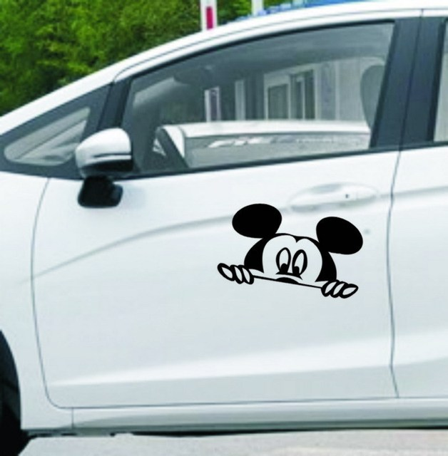 Custom mickey mouse car decals stickers automotive graphics for view mirrors