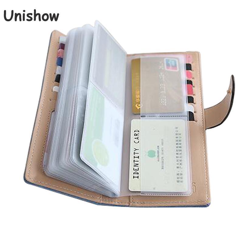 Mode parapluie 55 position cartes détenteurs de cartes de crédit de grande capacité femmes carte longue pochette marque femelle carte D'IDENTITÉ bourse
