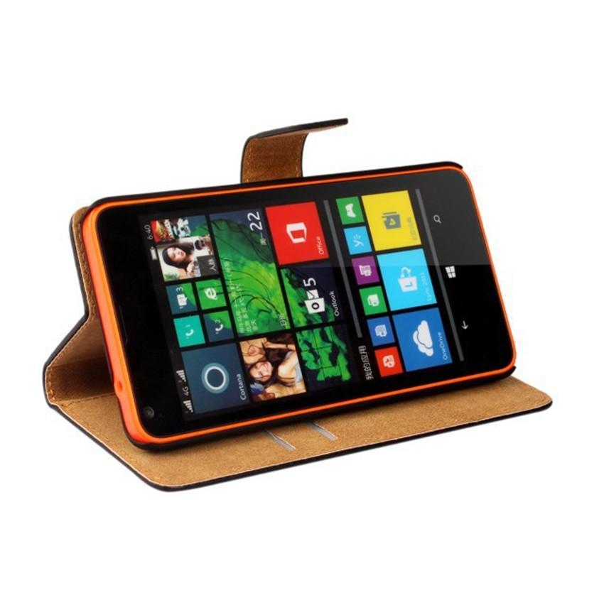 Luksusowe odwróć portfel genuine leather case pokrywa dla microsoft lumia 640 lte dual sim cell phone case do nokia 640 n640 powrót pokrywa 5