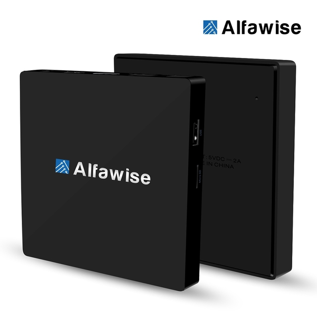 S912 Alfawise S92 TV Box Android 6.0 Amlogic Octa-core BT 4.0 Set-top Boxes 2.4G + 5.8G Dupla Wifi Inteligente Multi-Media Player