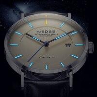Роскошные брендовые часы тритий часы Miyota 9015 автоматические часы ltalty натуральная кожа Стальные наручные часы светящиеся DW Стили часы