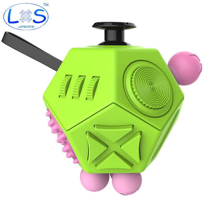 Latest version Fidget Cube interesting high quality 12 Sided Fidget spinner Anti irritability Toy Magic Cobe In Stress stock edc novelty stress relief toy fidget magic cube