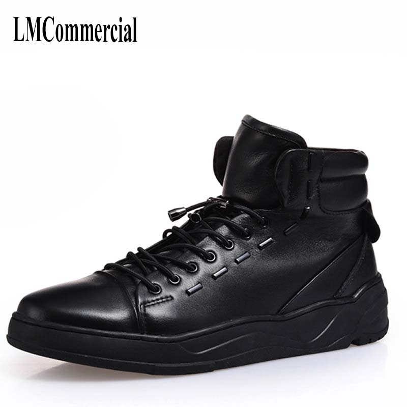 Korean youth shoes retro trend British style leather casual shoes boots Martin boots men cowhide breathable men shoes 2017 new autumn winter british retro men shoes zipper leather breathable sneaker fashion boots men casual shoes handmade
