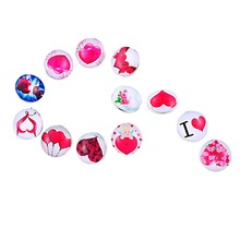 30Pcs Mixed Round Heart Love Pattern Click Snap Press Buttons DIY Crafts Making 18mm