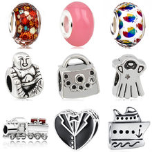 Punk Style Dress Handbag Love Heart Lollipop Pendant Charms Beads Fit Pandora Bracelets & Bangles for Women Making Jewelry Gift(China)