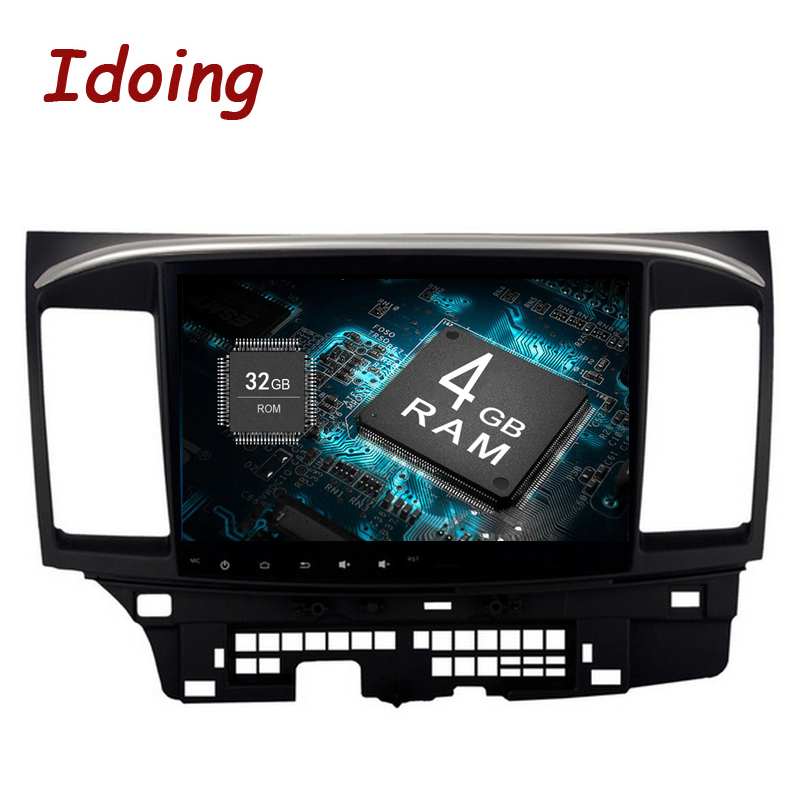 Idoing 2Din10. 2 4g + 32g Pour Mitsubishi Lancer Android8.0/7.1 Volant 8 Core Voiture GPS lecteur Navigation Rapide Boot 4g NO DVD