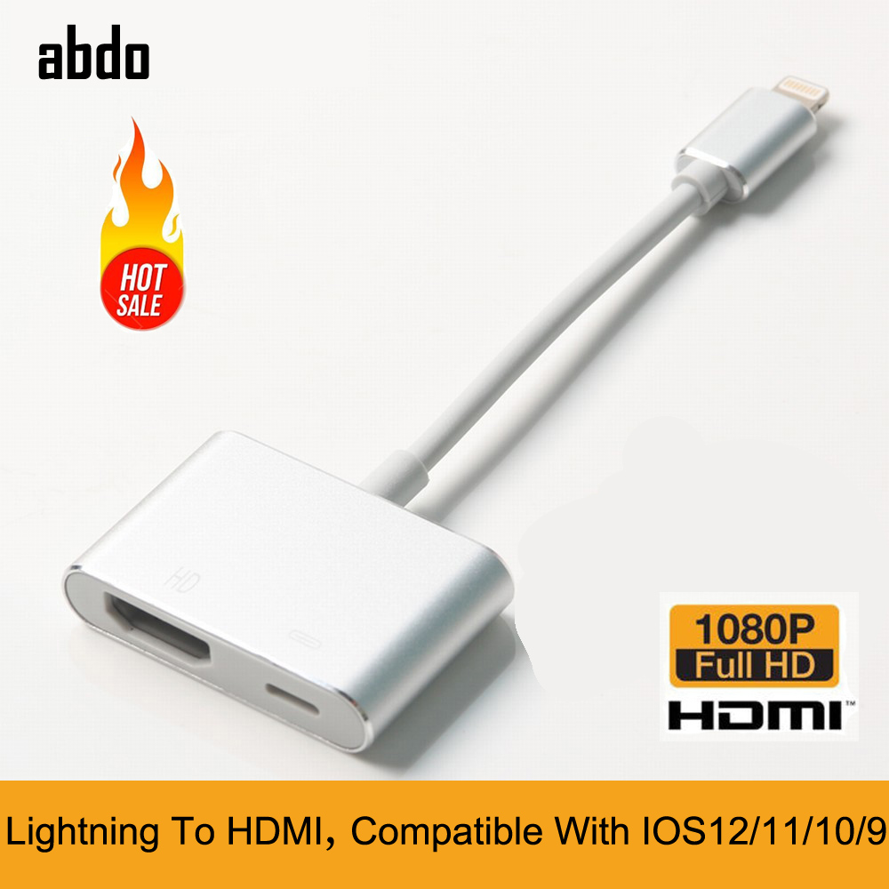 Lightning To HDMI For IPhone XS Max XR X 8 8P 7 7P 6 6S IPad IPod Full HD Audio Video Adapter Cable AV Converter Adapter