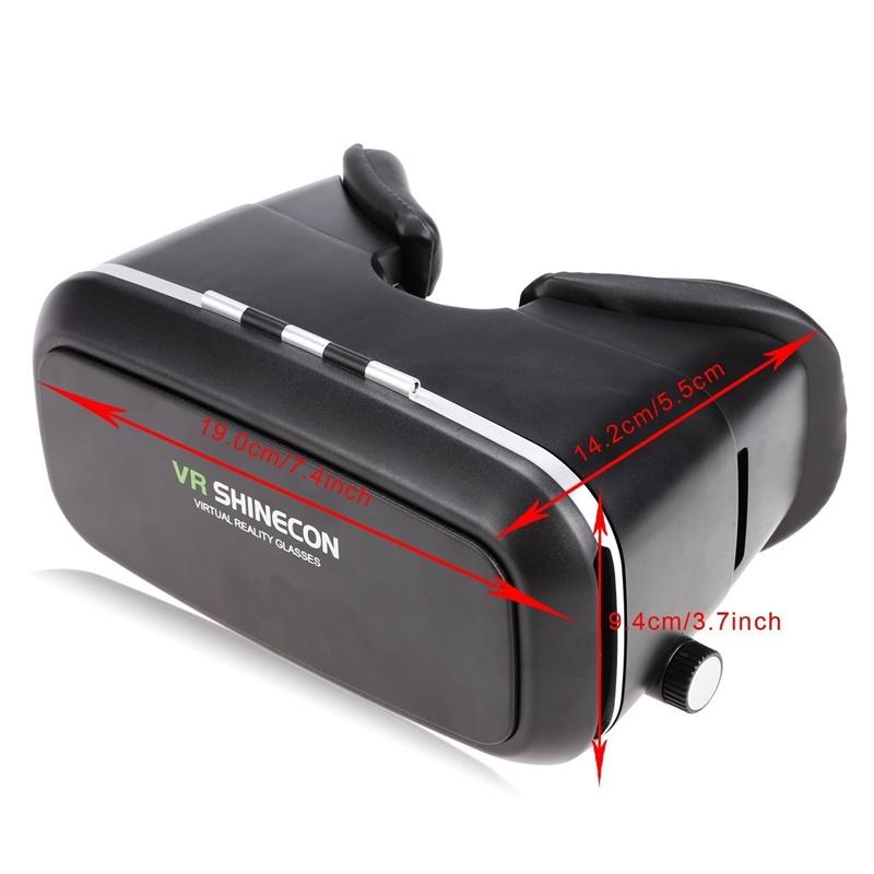 18 Original Shinecon VR Pro Virtual Reality 3D Glasses Headset VRBOX Head Mount Google Cardboard Helmet For Smartphone 4-6inch 27