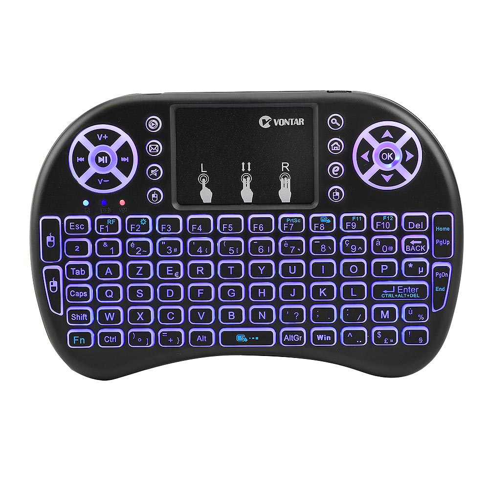 2.4Ghz Backlit Air Mouse I8 Mini Draadloze Toetsenbord Met Touchpad Backlit Keyboard Afstandsbediening Voor Android Tv Box/mini Pc/H96