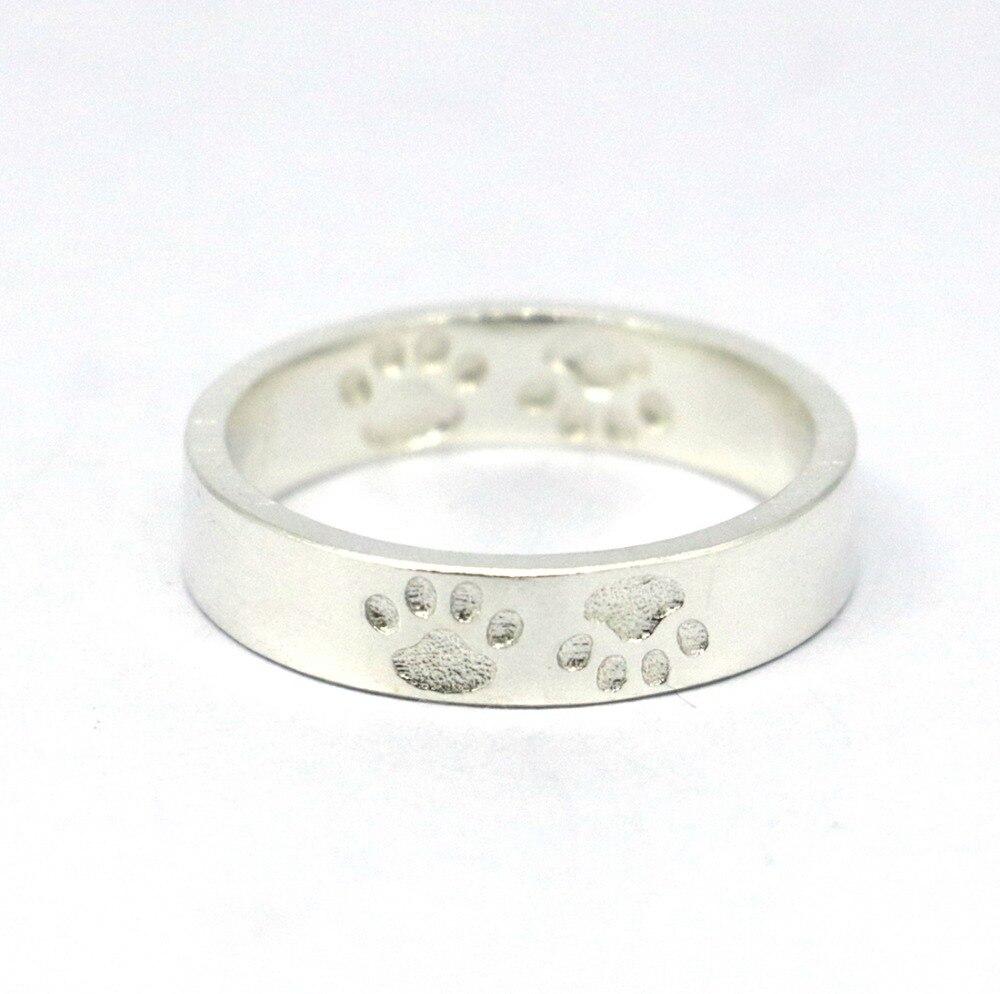Anillo de pata de cabra de plata de ley 925 macizo, anillo de pata de - Bisutería - foto 1