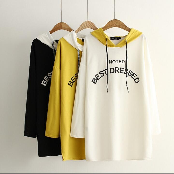 078ee4ae69aa New Autumn Cotton V Neck Letter Casual Pullovers Long Sleeve ...