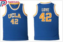 172dab1d4 2018 Embroidery Stitched Kevin Love 42 Basketball Jerseys UCLA College  Basketball Jersey for gift men