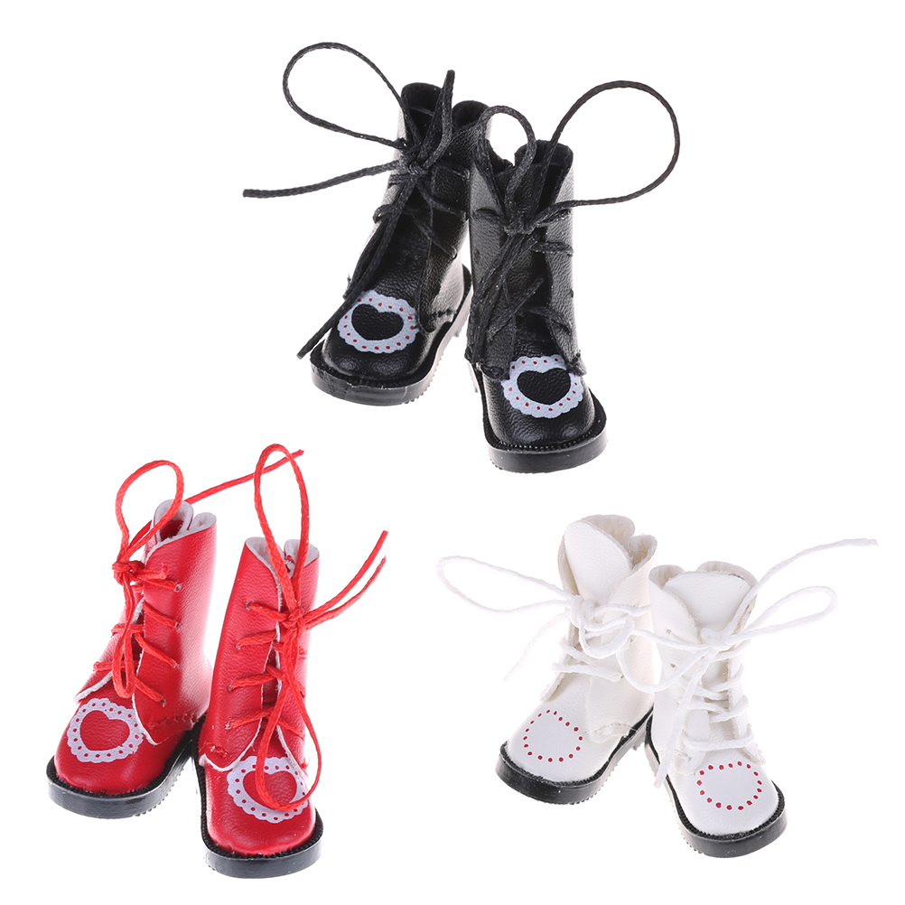 1pair PU Leather 1/8 <font><b>doll</b></font> Boots For BJD <font><b>1/6</b></font> <font><b>dolls</b></font> <font><b>Shoes</b></font> for Blythe Licca Jb <font><b>Doll</b></font> Mini Boot 3.2cm image