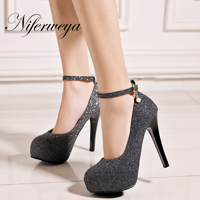 women sexy super high heels platform shoes 2015 elegant red bottom cross strap pumps ladies wedding stiletto shoes mujer zapatos Spring/Autumn gold women pumps sexy Ankle Strap ladies shoes big size 33-45 Super High 12 cm Platform high heels zapatos mujer