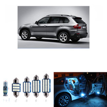 18pcs for BMW X5 M E70 2007-2012 Error Free Canbus LED Interior Lights Package Kits White ice blue Dome read lamp pink