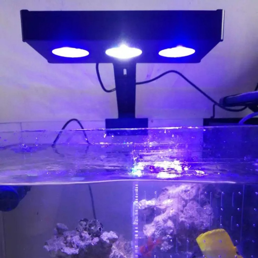 30 Вт светодио дный светодиодный полный спектр морской риф танк Крытый аквариум свет морской воды освещение с сенсорным управлением для кор...