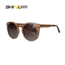 Высокое Качество Мужчины Женщины Деревянные Очки Ретро Старинные Круглые UV400 Поляризованные Очки Óculos De Sol женщина для Моды Тени SH73006