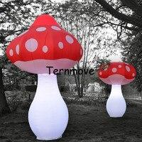 Огромный надувной гриб, 3 м/4 м украшения надувные светодио дный грибы Свет для музыкального фестиваля светодио дный освещения для сцены