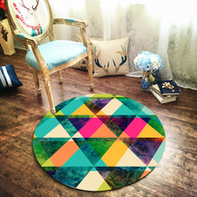 Art 3D round table protection sticker tablecloth PVC self-adhesive waterproof decorative film Living room bedroom floor