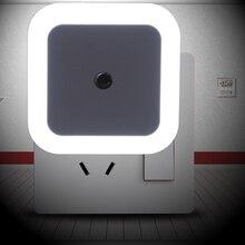 auto home Smart LED Light Induction Sensor Control Bedroom night Light baby Bed Lamp US/EU Plug Lamp 65*65*28mm 110V-250V 0.5W