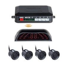 4 Sensores Parktronic Carro sem fio LEVOU Sensor de Estacionamento Monitor de Auto Reverso Backup Estacionamento Radar Detector Sistema