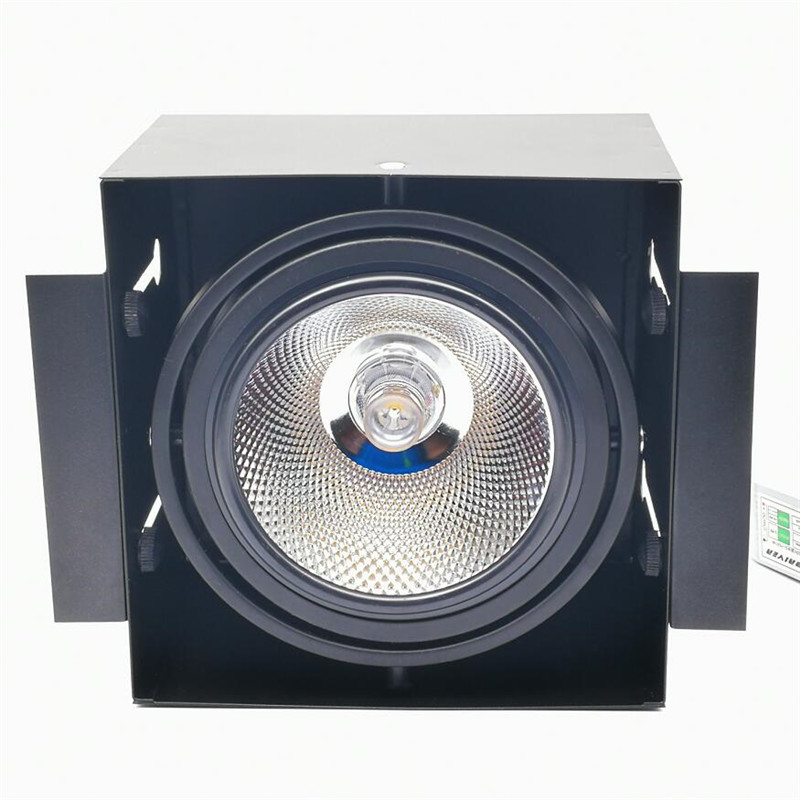 4pcs lot Double Led Grille light Dimmable Recessed LED downlight COB 1x15W 2x15w dimming led ceiling