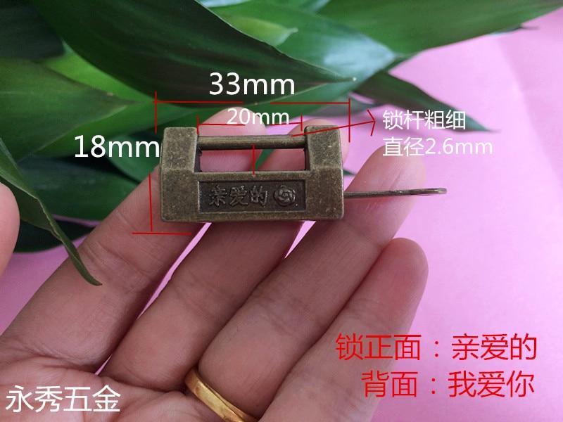 Honig Ich Liebe Dich Chinesische Antike Bronze Lock Tagebuch