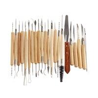 22 ADET Paslanmaz Çelik Sanat Araçları Kiti Set Sıcak Satış 22 Polimer Kil Çömlekçilik Seramik Pack Heykel Modelleme Araçları ALI8