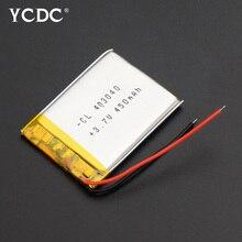 3.7V Lithium Polymer Battery 043040 403040 450mAh MP3 MP4 GP