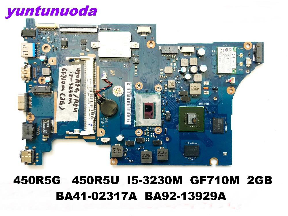 Original for SAMSUNG 450R5G 450R5U laptop motherboard <font><b>I5</b></font>-<font><b>3230M</b></font> GF710M 2GB BA41-02317A BA92-13929A tested good free shipping image