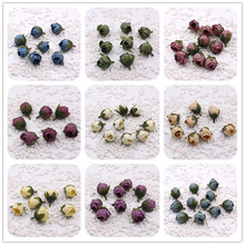cheap 10PCS/lot 2.5 cm cloth simulation rose bud artificial flowers home DIY wedding handmade small tea bags
